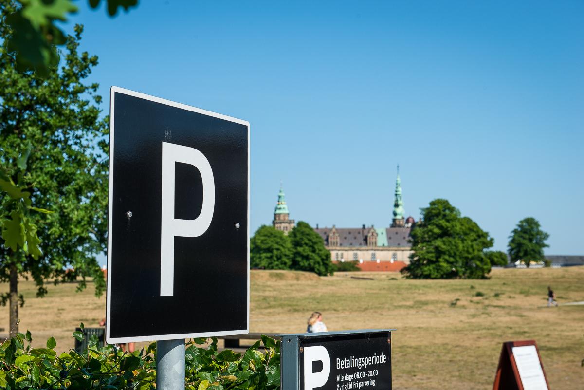 Parkering ved Kronborg. Foto: Thomas Rahbek, SLKE