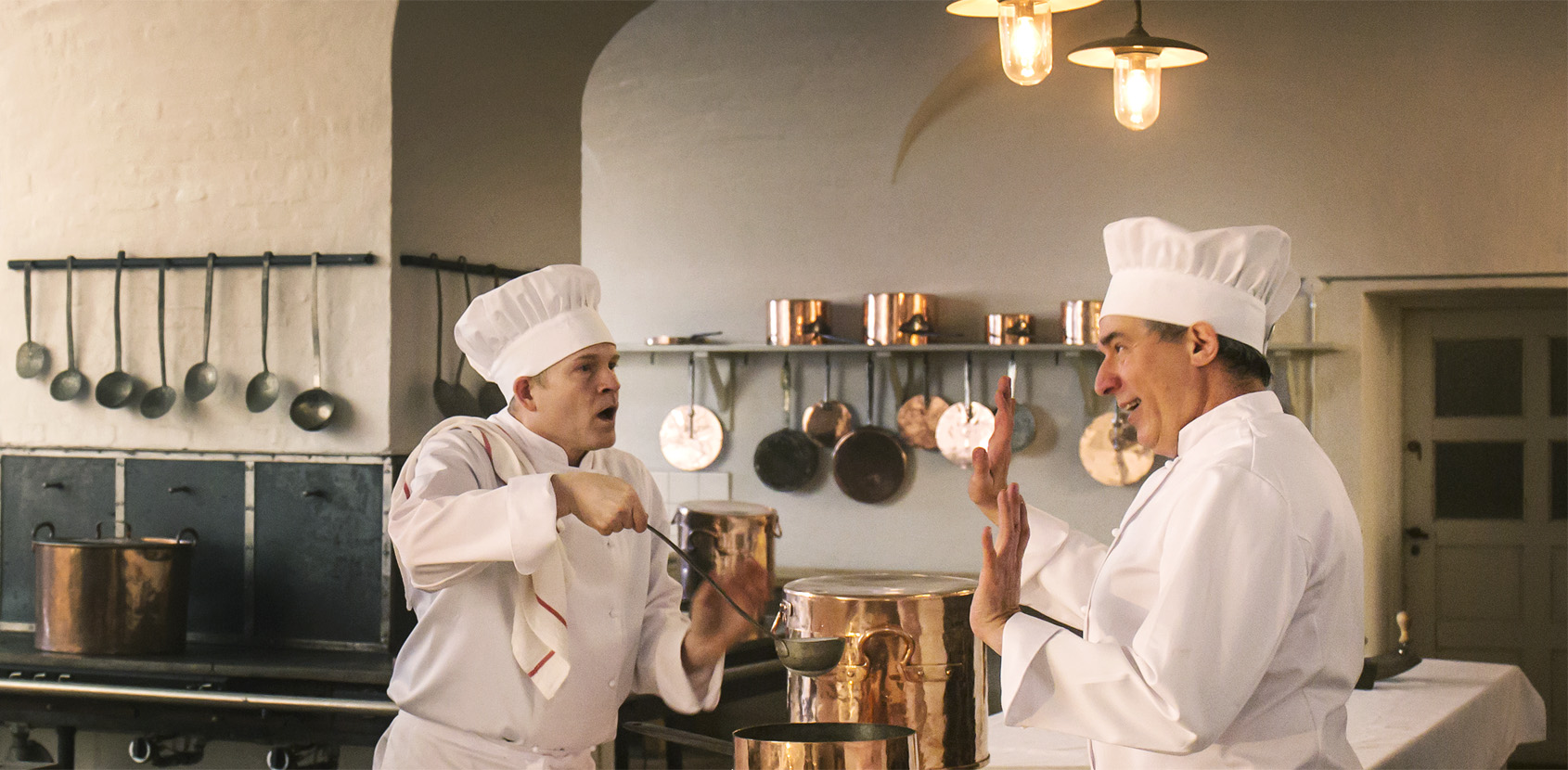Det Kongelige Festkøkken to kokke foto Thorkild Jensen