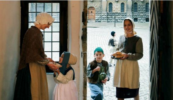Svinedrenge og fejepiger på Kronborg i Renæssancen foto Thorkild Jensen