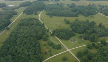 Kongernes jagt på UNESCOs verdensarvsliste. Luftfoto: Anne Meisner, SLKE