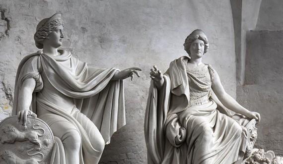 Kongernes Lapidarium, Danmark-Norge monumentet i Kongernes Lapidarium. Foto: Thorkild Jensen