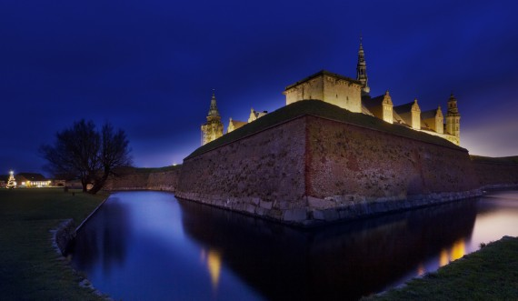 Kronborg at night. Photo: Thoams Rahbek