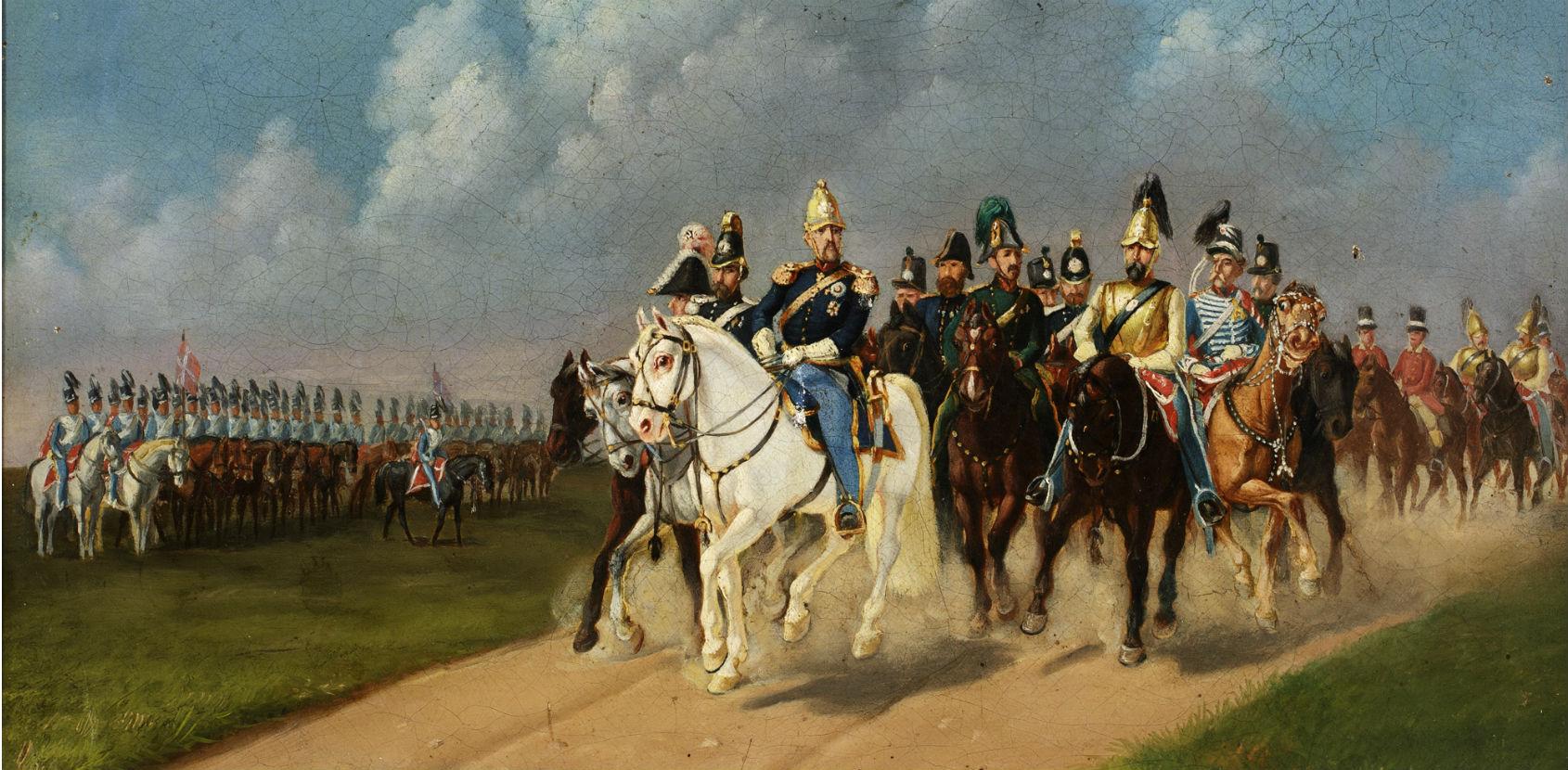 Maleri med Perlen og Frederik 7.