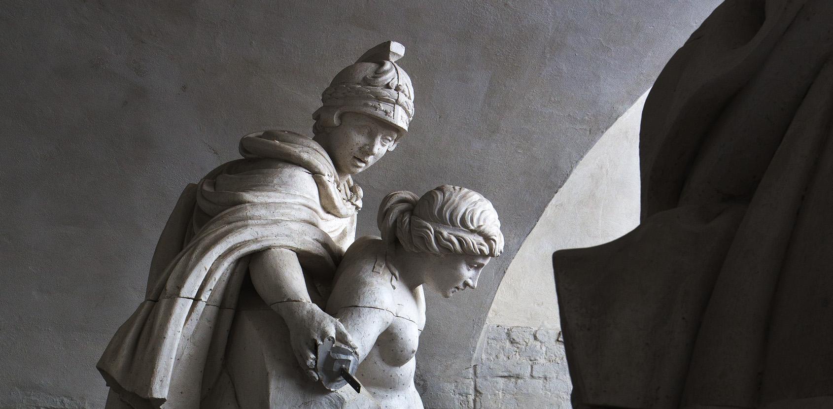 Sculptures in the Lapidarium of Kings photo Thorkild Jensen