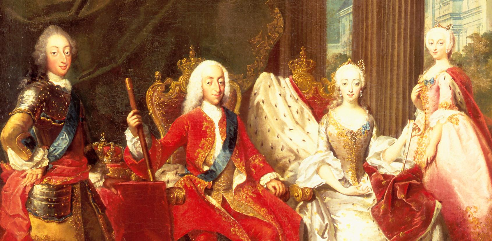 Christian 6. med familie. Foto: Kongernes Samling Rosenborg