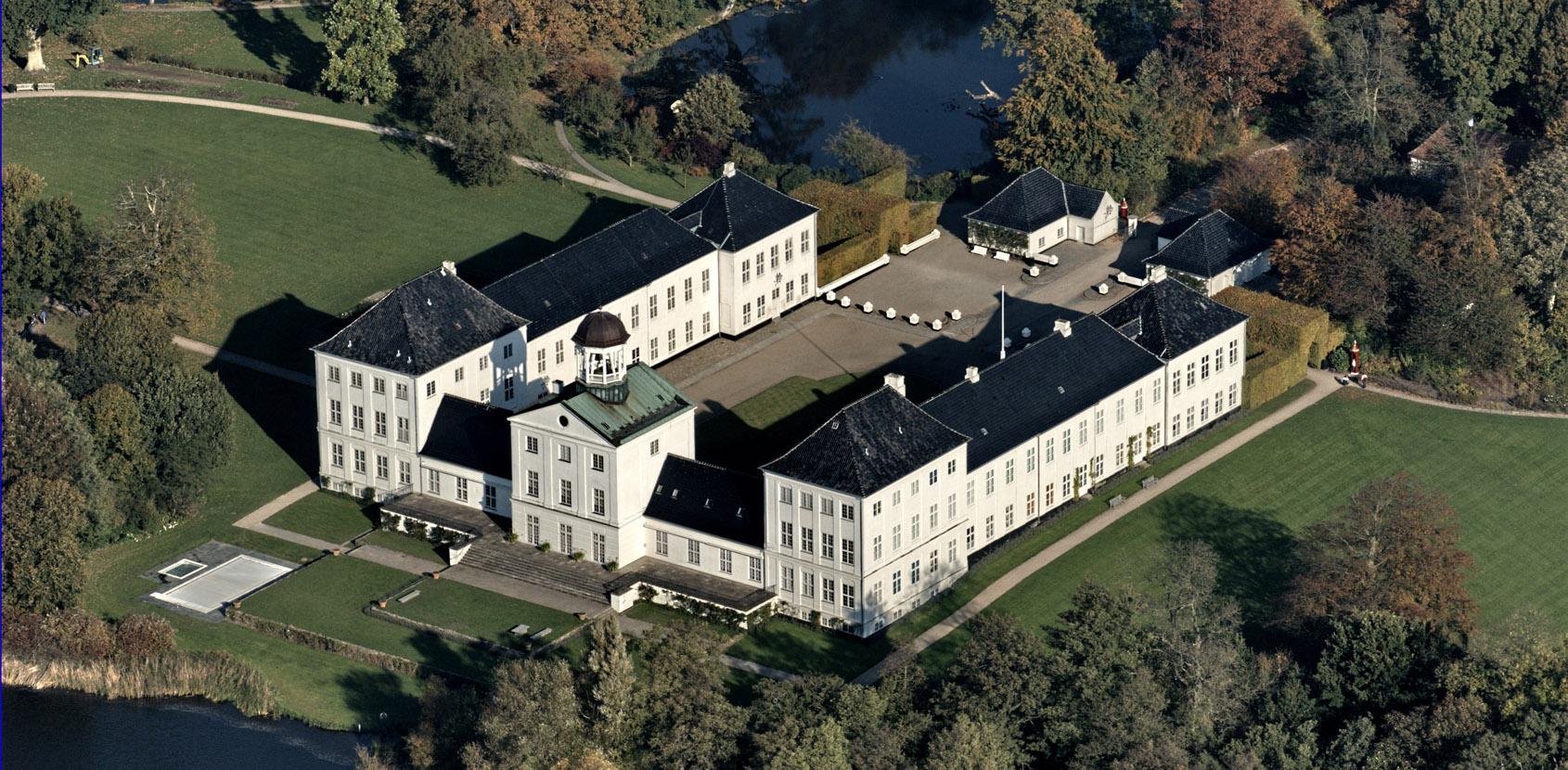 Luftfoto af Gråsten Slot. Foto: Finn Christoffersen