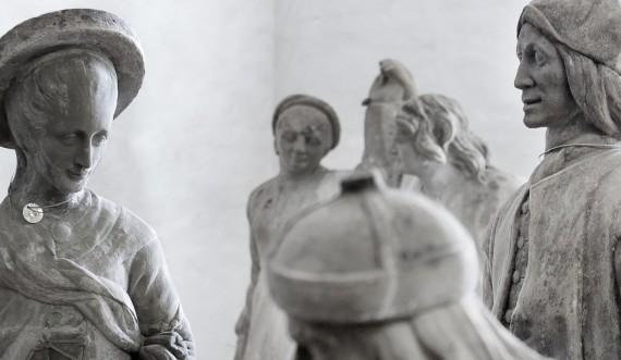 De oprindelige skulpturer fra Nordmandsdalen står i Kongernes Lapidarium. Foto: Thorkild Jensen