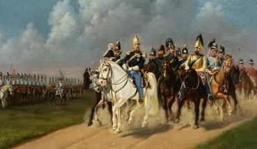 Maleri med Perlen og Frederik 7. foto: Christiansborg Slot