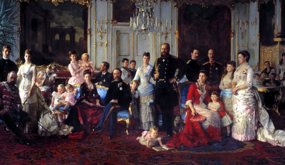 The father-in-law of Europe gathers the whole family at Fredensborg Palace every summer. Alexandra marries the crown prince of England, Edward. Dagmar marries the Emperor of Russia, Alexander III as his third wife and Vilhelm becomes the king of Greece. Foto: Torkild Jensen