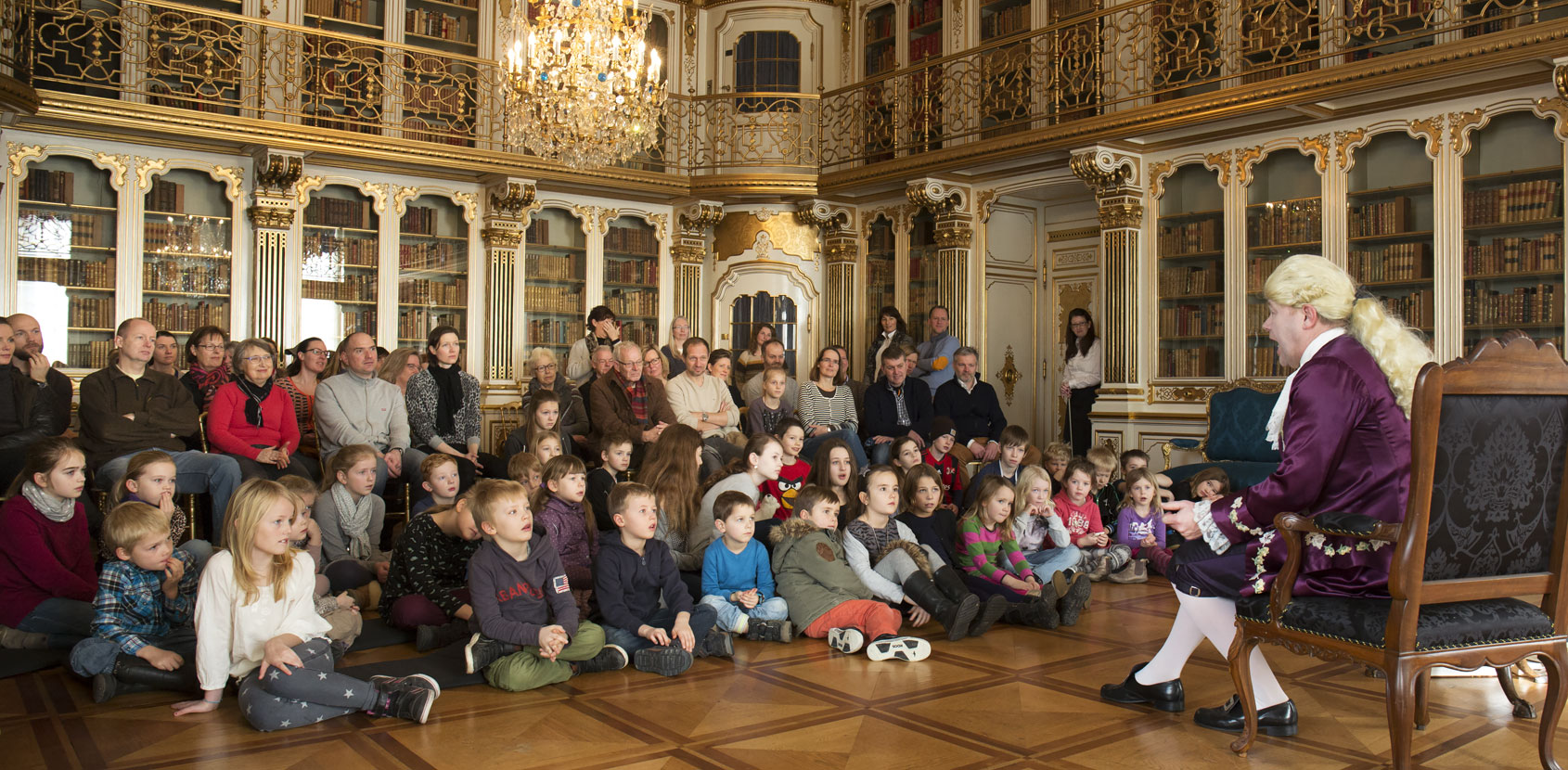 Christian 7. i Dronningens Håndbibliotek foto Thorkild jensen