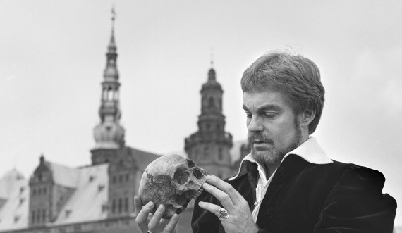 Udstillingen Hamlet on Location, Derek Jacobi, 1979. Foto: Arne Magnussen