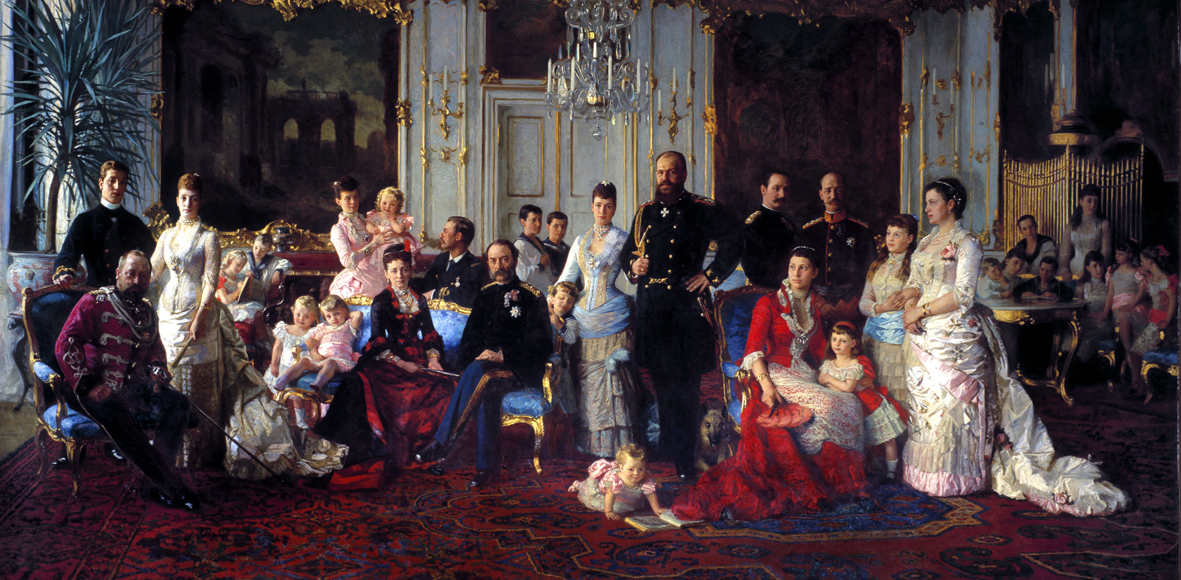 The father-in-law of Europe would gather the whole family at Fredensborg Palace every summer. Alexandra married the British crown prince, Edward. Dagmar became the wife of Tsar Alexander III and William became the king of Greece. Photo: Torkild Jensen