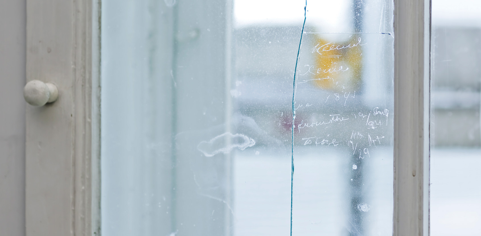 Kings and presidents have scratched their signatures on the panes of window glass. Photo: Kira Krøis Ursem