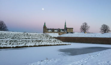 Kronborg vinter solnedgang foto Amalie Kristensen